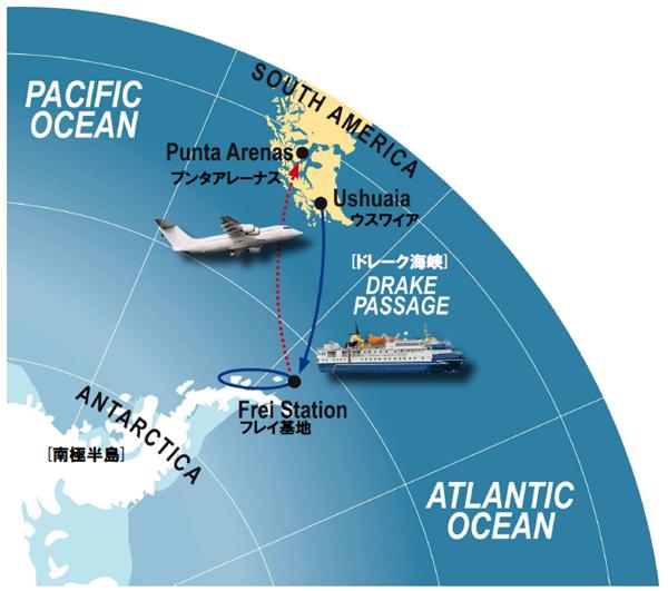 南極クルーズマップ
